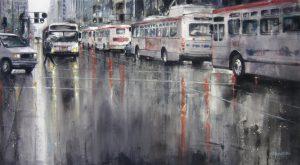 Bus Stop 52x95cm