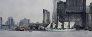 El Cano en New York 49x115cm