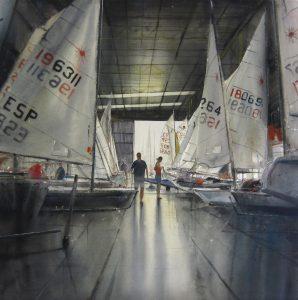 Escuela de vela 80x80cm