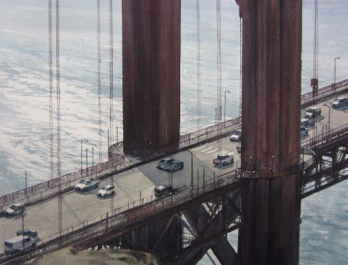 Golden Gate 80x80cm