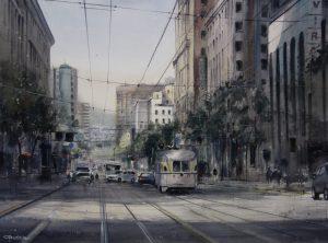 Market Street VII 70x100cm