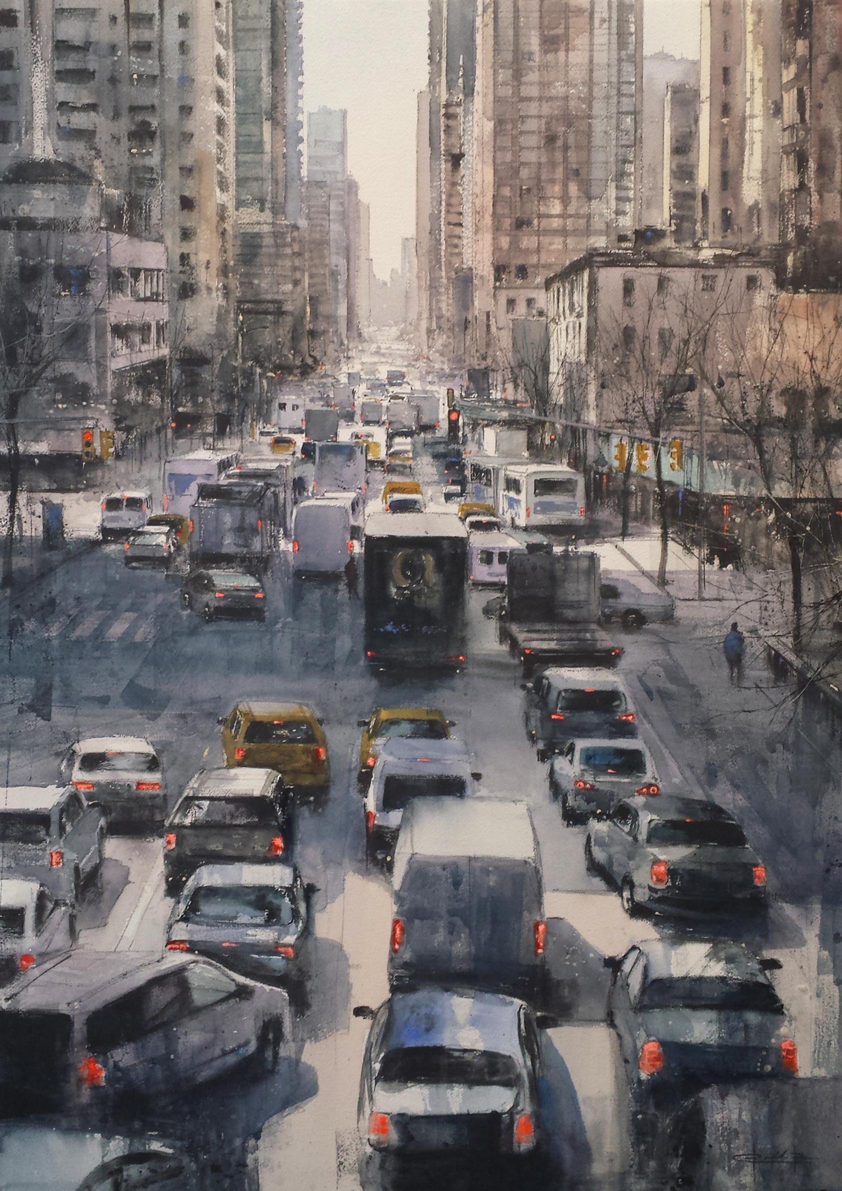 Traffic Jam 100x70cm